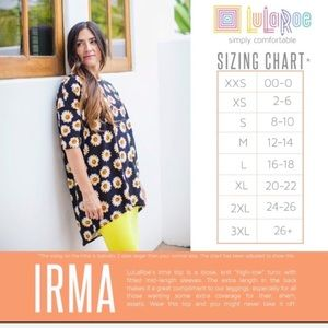 🏵LULAROE🏵IRMA the HI/LO TUNIC TOP🏵